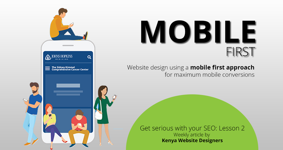 Website design using a mobile first approach for maximum mobile conversions